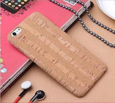 Fashion Wood Grain Natural Cork Soft Phone Case For iPhone 8 7 Plus 6S 6 Plus