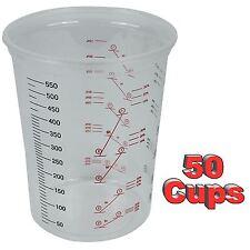 Starchem Plastic Polypropylene Paint Mixing Cups 600cc - Pack 50