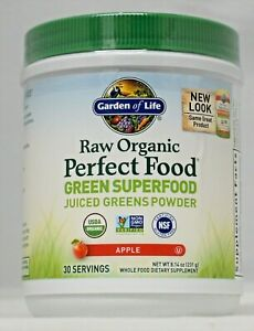 Perfect Food Apple Garden of Life Raw Organic Green Superfood Powder 8.14oz