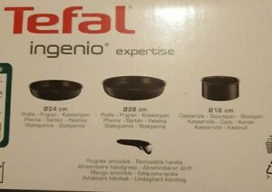 Tefal Ingenio Expertise 4 Pieces Saucepan Set Non-Stick Induction Hob &Other Hob