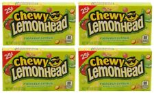 4x Chewy Lemonhead Fiercely Citrus Fruit Flavored Candies American Sweets