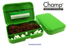 Champ Green Plastic Hand Rollers Tobacco Box NEW