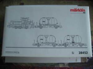 Marklin H0 28452 NS Railbouw Leerdam Cement Construction Locomotive w/3 Cars NIB