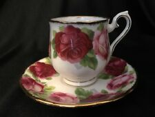 Royal Albert Old English Rose demitasse cup and saucer