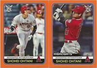 (2) 2020 Topps Big League SHOHEI OHTANI Orange Parallel Lot x2 Angels #28 | #294