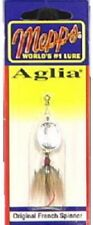 Big Rock, Mepps Aglia, 1/8 OZ, Silver, Spinner With Brown Fly Spinner