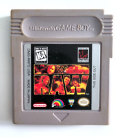 WWF Raw ORIGINAL NINTENDO GAMEBOY GAME Tested ++ WORKING! Authentic!
