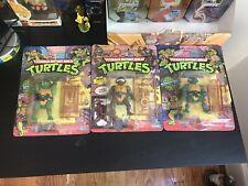 TMNT Donatello, Michaelangelo, Raphael Playmates 1988 Sealed Unpunched Toy Lot