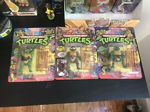 TMNT Donatello, Michaelangelo, Raphael Playmates 1988 Sealed Unpunched Toy Lot