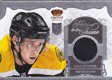 13-14 Crown Royale Ryan Spooner Jersey Heirs To The Throne Bruins 2013