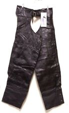 Sport Air Leather Motorcycle Biker Chaps - Quilted Patchwork Design Men's M