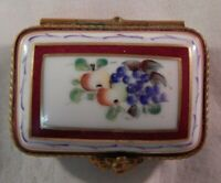Vintage Limoges Trinket Box Pill Signed LM