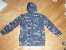UNDER ARMOUR UA STORM SIZE YLG BLACK GRAY CAMO INSULATED HOODED WINTER JACKET