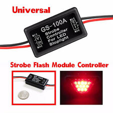 12V GS-100A LED Brake Stop Light Strobe Flash Module Controller Box For Car