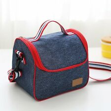 Waterproof Thermal Cooler Insulated Lunch Box Bento Tote Bag Shoulder Strap