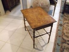 Hickory Chair Co one drawer faux bamboo table