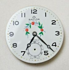 Vtg Baylor 17 Jewels Swiss Flowers Pocket Watch Mixed Parts For Repair As Is