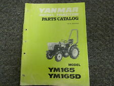 Yanmar Models YM165 & YM165D Diesel Tractor Parts Catalog Manual Book