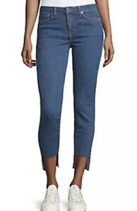 NWT DTLA Mid-Rise Skinny Step Hem Indigo Wash Denim Jeans Size 25