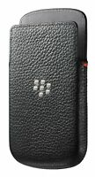 Genuine BlackBerry Leather Pocket Pouch Case Cover for Q10 - Black