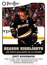 2010-11 O-Pee-Chee Season Highlights #7 Scott Niedermayer