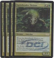 TCG 74 MtG Magic the Gathering Sprießendes Thrinax Gateway Promo Playset (4)