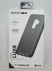 NEW Authentic Tech21 Evo Luxe Black Vegan Leather Case Samsung Galaxy S9+ Plus