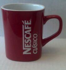 "NESCAFE COFFEE Mug Cup NIB RED  3.5"" Tall Nestle RARE Collectors NEW!"