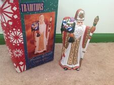 Traditions porcelain collectable Santa Claus Father Christmas