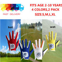 Golf Gloves Kids 2 Pack Boy Girl Junior Left Hand Right Small Youth Child Lh Rh