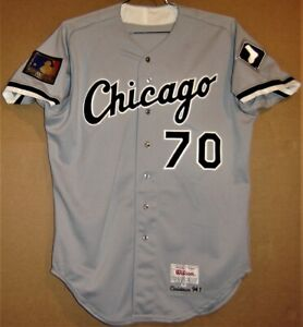 CHICAGO WHITE SOX #70 SCOTT CHRISTMAN 1994 ROAD BUTTON-DOWN JERSEY