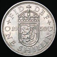 1959 | Elizabeth II 'Scotland' One Shilling | Cupro-Nickel | Coins | KM Coins