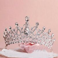 Wedding Bridal Princess Crystal Tiara Prom Hair Crown Veil Attractive Headband
