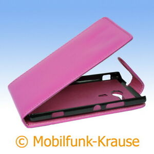 Flip Case Etui Handytasche Tasche Hülle f. Sony Xperia SP (Pink)