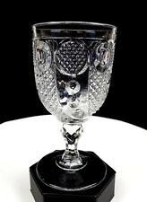 """HORN OF PLENTY BOSTON SANDWICH, MCKEE CLEAR FLINT GLASS 6 1/8"""" WATER GOBLET 1830"""