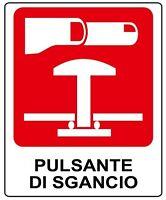 ADESIVO Segnaletica pulsante di sgancio. Fire allarm sticker 100x120 mm