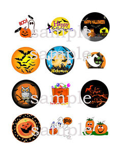 Assorted HALLOWEEN Edible Icing Toppers CUPCAKE Decoration Images Party Supply