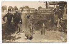 ANTIQUE POSTCARD ARMOR PLATE FROM BATTLESHIP TEXAS STATE FAIR SPRINGFIELD