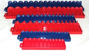 "Socket Tray Holder Organizer SAE & Metric 1/4"" - 3/8"" - 1/2"" drive"