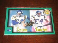 RANDY MOSS & CRIS CARTER 1999 SCORE #275 GENUINE AUTHENTIC NFL INSERT CARD /1989