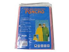 ENFANTS / ROSE Poncho imperméable RÉUTILISABLE vinyle plastique - Taille Unique