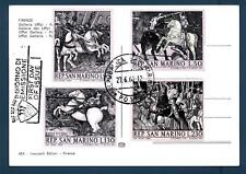 SAN MARINO - 1968 - Dipinti di Paolo Uccello su cartolina maximum