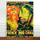 "Saigon Vintage Travel Poster Art ~ CANVAS PRINT 8x12"" French Indo China"
