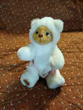 ROBERT RAIKES BEARS teddy toy 1990 Applause Nursery Miniatures carved wood white