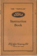 Ford 8 Eight Popular Model Y 1937 Original Factory Owners Handbook No R 6719/537