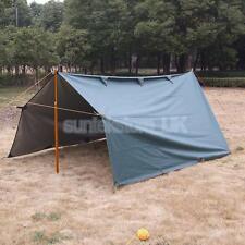 Large Waterproof Bushcraft Camping Canopy Tarp Basha Bivvy Sun Rain Shelter