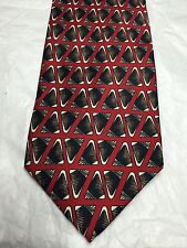 FERRELL REED MEN'S TIE MAROON WITH BLACK AND BROWN DESIGN 60 X 4