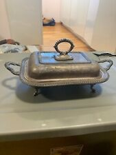 """Vintage Silver Plated """"SBEP"""" Double Chaffing Dish Serving Tray"""
