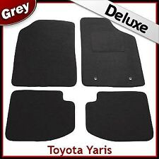 TOYOTA YARIS 5-Door Mk1 / XP10 1999-2005 Tailored LUX 1300g Carpet Car Mats GREY