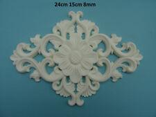 Decorative large flower and scrolls center applique resin furniture moulding M2